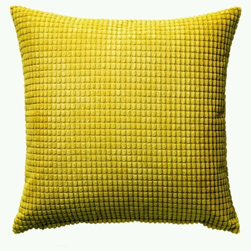 IKEA gullklocka Housse de Coussin Couvre Chenille Tissu Jaune promotionnel Pr