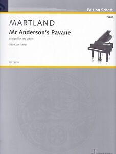 Arrangiert Für Zwei Klaviere Mr Anderson`s Pavane Liefern Martland