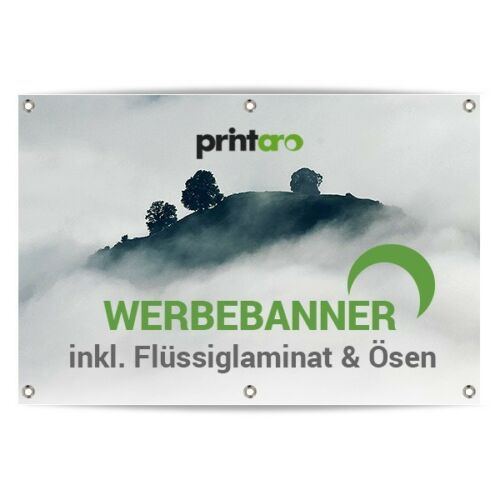 ÖSEN WERBEPLANE WERBEBANNER PLANE 50x200cm MIT DRUCK