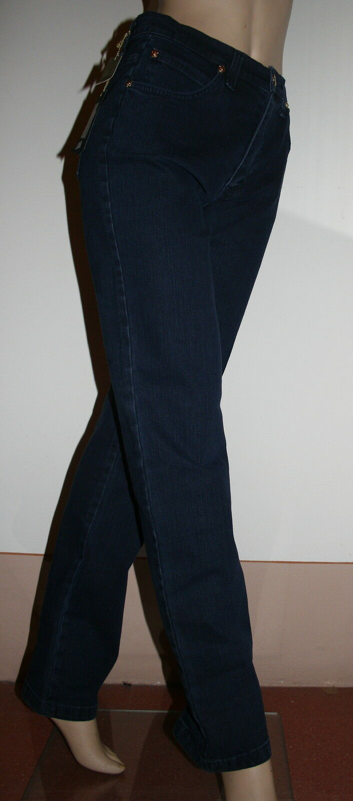 Pantalone donna jeans jeans jeans tg 48 vita alta Valentina Farnelli 82ba87