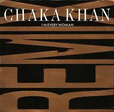 "CHAKA KHAN i'm every woman remix/baby me W 2963 uk warner 1989 7"" PS EX/EX"