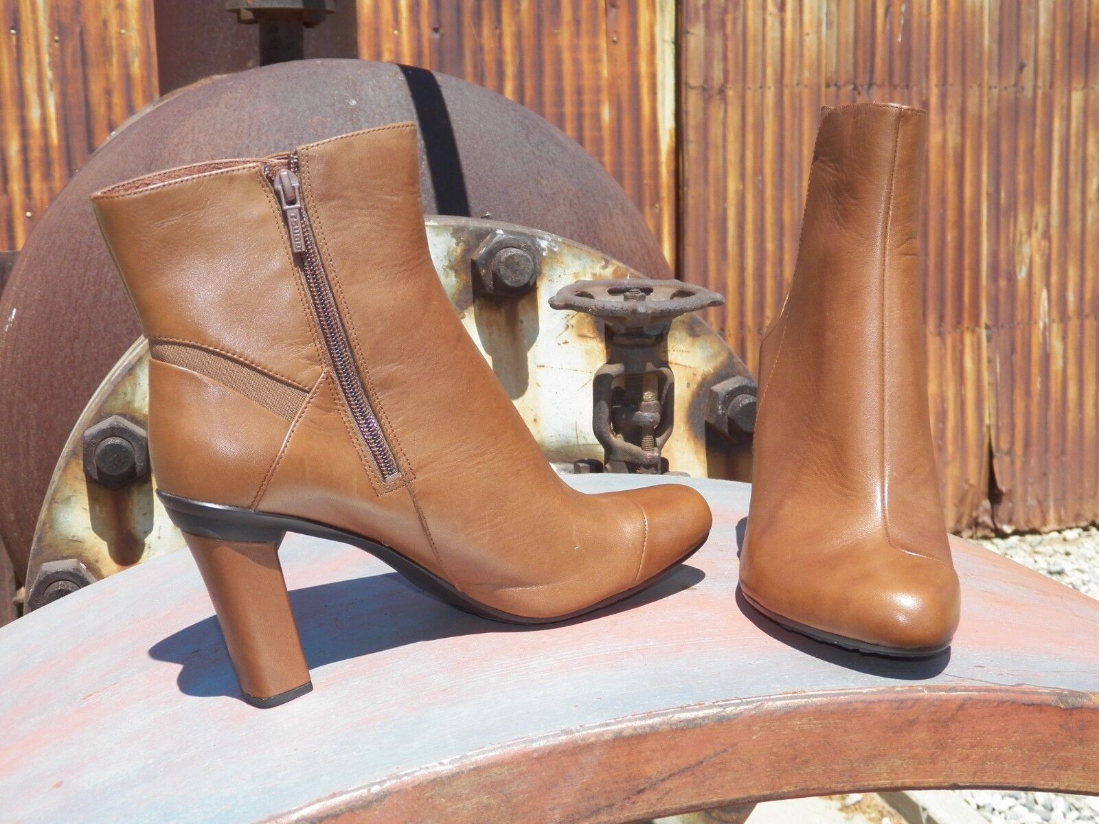 New Damenschuhe Tsubo Kemma Chestnut Leder Modern Ankle Stiefel All Größes