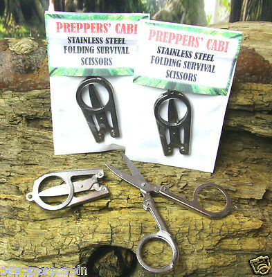 BRITISH ARMY FOLDING SCISSORS - Survival Camping Bushcraft First Aid Kit