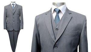 Herren-Anzug-3-teilig-Muga-Gr-48-Grau
