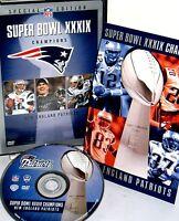 Nfl Super Bowl Xxxix England Patriots 2004 Dvd,new Free Ship Game Highlights