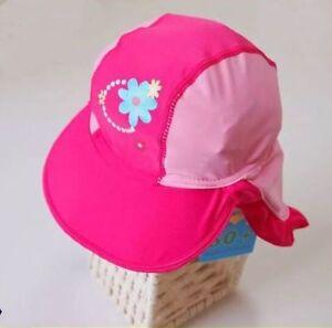NEW Lycra Sun Surf Hat Toddler Kids Girls Child Cap Beach Swimming ... 7af67f3fa21