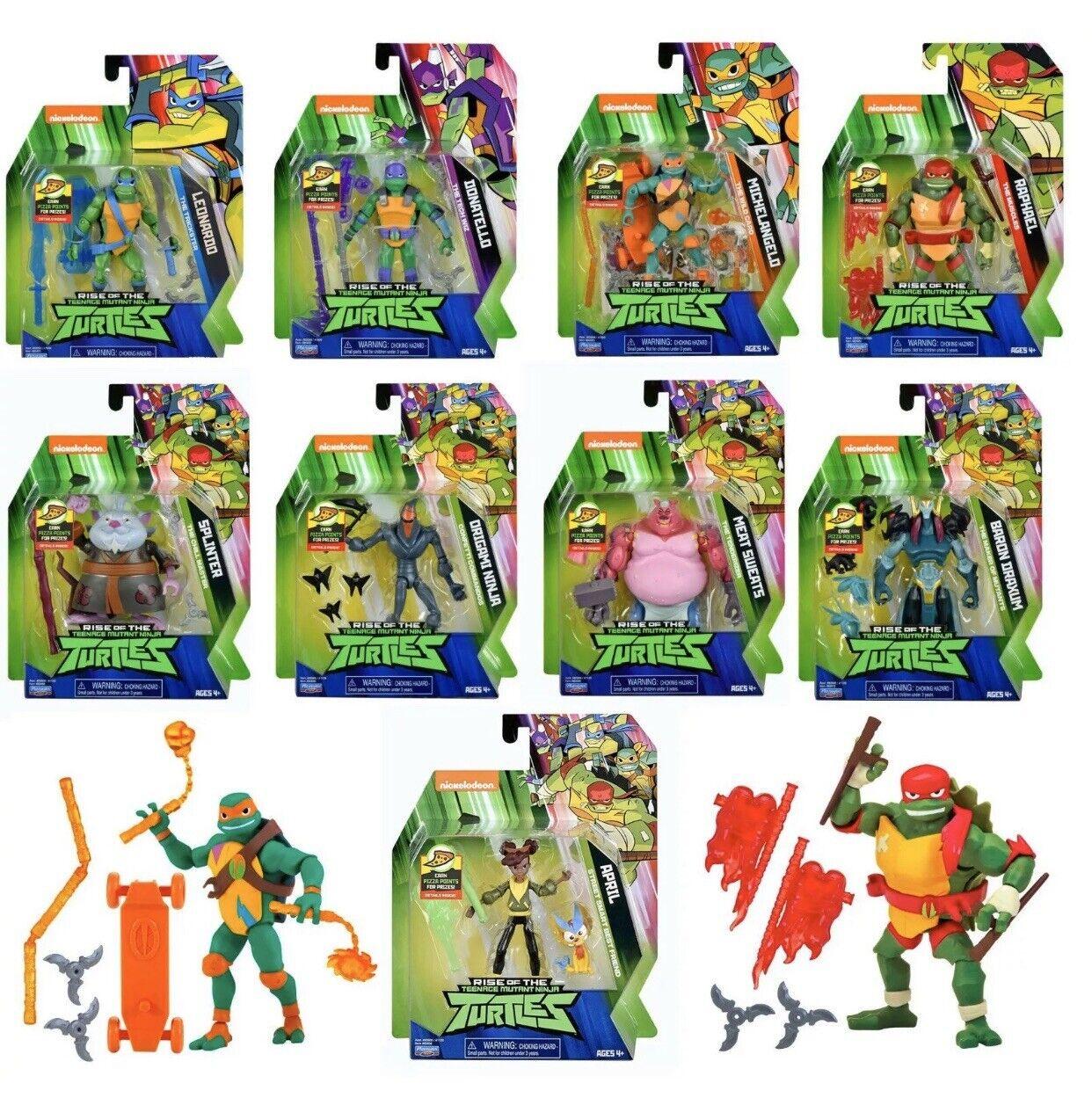 9 Figure Complete Set Rise of The Teenage Mutant Ninja Turtles TMNT 2018 New