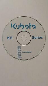 Kubota Kh Série Service Manuel * Gratuit Uk Frais De Port *-afficher Le Titre D'origine Saveur Pure Et Douce