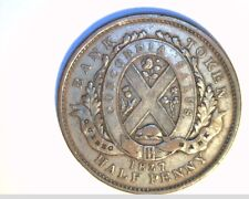1837 Providence of Canada, Bk of Quebec, Circ Half Penny, High Grade (Can-507)