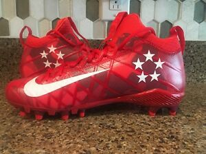 the best attitude 9875b 95dc3 Image is loading NIKE-ALPHA-FIELD-GENERAL-ELITE-FOOTBALL-CLEATS-RED-