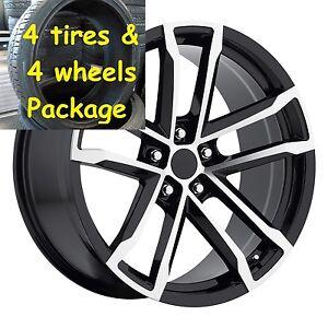 4 20 X 10 11 Tires Package Machine Black Camaro 41 Zl1 Wheels Rims