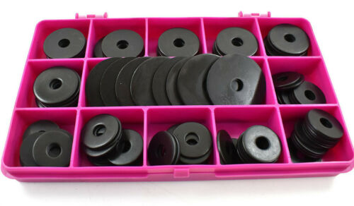 120 x M6 ASSORTED BLACK A2 STAINLESS STEEL PENNY REPAIR LARGE FENDER WASHER KIT