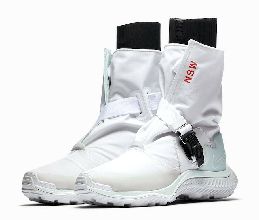 NIKE NSW GAITER BOOTS BOOTS BOOTS WHITE WOMEN SIZE 7.5 NEW FAST SHIPPING  250 (AA0528-100) 87e474