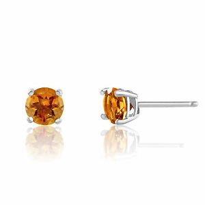 Sterling-Silver-Basket-Set-Genuine-Citrine-November-Birthstone-Stud-Earrings