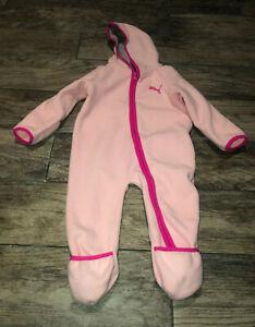 Puma Infant Fleece Pink Winter Outwear Snow Bunting Suit
