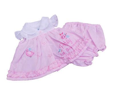 Tiny Premature Preemie Baby Girls Pink Elephant Dress Cardigan /& Socks Nursery Time with Tags