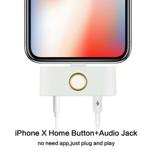 best service 5a0a6 5ed0d Details about New External home button audio charge+Music adapter iPhone  X/8/8+/7/6s/6/5s/5c/5
