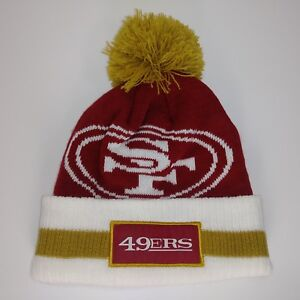 Image is loading NFL-SF-San-Francisco-Pom-Knit-Beanie-Cap- b1defbc5694