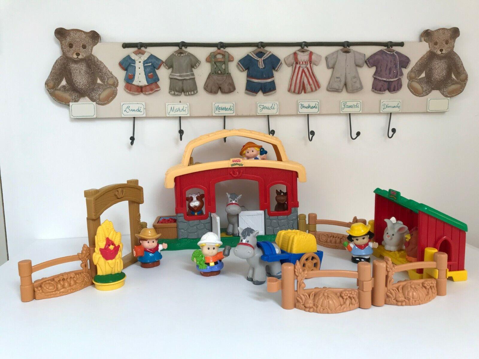 L'écurie Little People Figurine Fisher Price Les Animaux De La Ferme