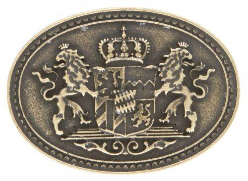 Wappen Bayern Krone Löwe messing Geschenk Geburtstag Gürtelschnalle Schließe
