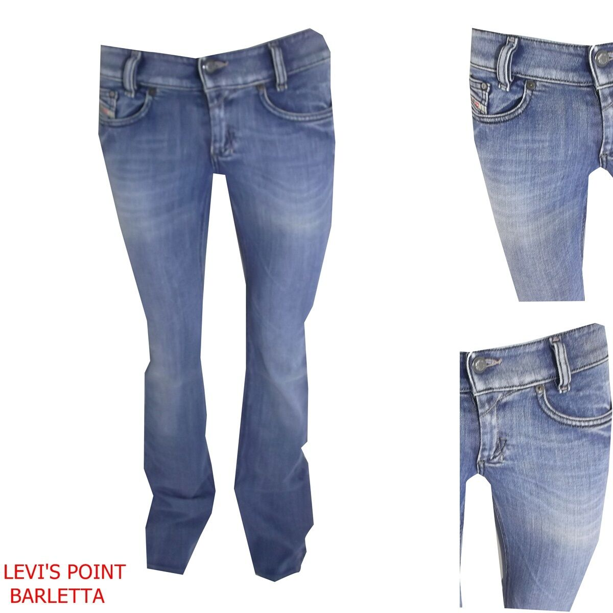 Jeans Diesel  Louvely Donna Stretch Stretch Stretch A Zampa D'elefante Tg W26 27 28 29 30 31 32 d7deb1