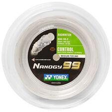 YONEX NANOGY 99 200M COIL BADMINTON RACKET STRING WHITE COLOUR