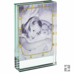 fc3bcf26f24f Image is loading Spaceform-Glass-Gold-Hearts-Dinky-Photo-Picture-Frame-