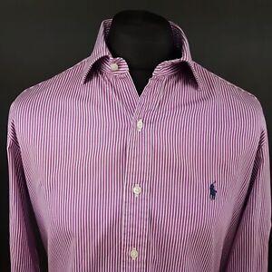 Polo-Ralph-Lauren-Mens-Shirt-16-40-41-MEDIUM-Long-Sleeve-Purple-Regular-Fit