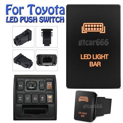 12V Orange LED Push Switch SASQUATCH LIGHT for Toyota Highlander Sequoia 4Runner