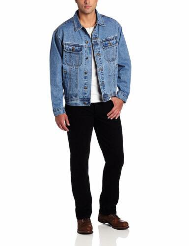 Choose SZ//Color Wrangler Men/'s Big /& Tall Unlined Denim Jacket