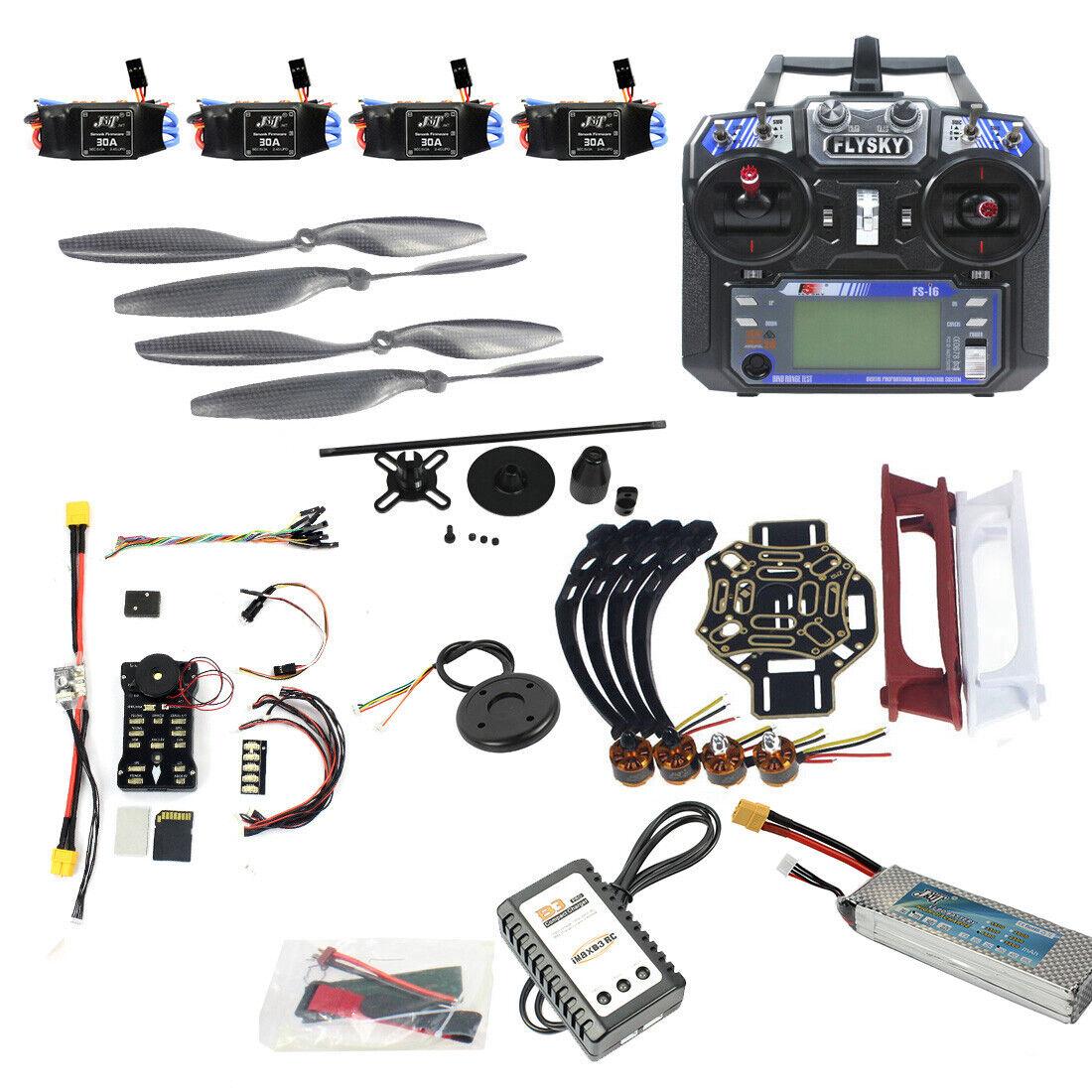 Conjunto COMPLETO hágalo usted mismo FPV DRONE CUADRICÓPTERO 450 aviones Kit cuadro PXI PX4 control de vuelo