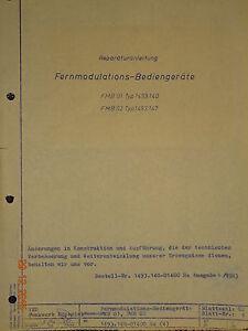 FMB 01, FMB 02 Reparaturanleitung, RFT / Funkwerk Köpenick