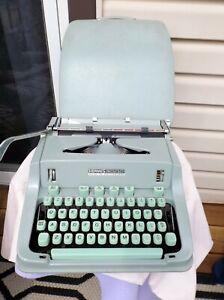 Sea Foam Green Hermes 3000 Typewriter in Original Case