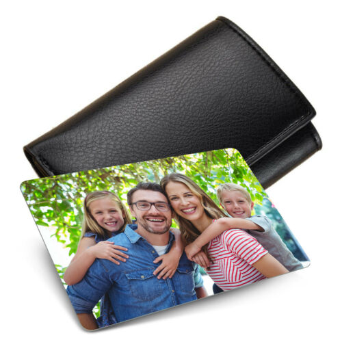Personalised METAL Keepsake DOUBLE SIDED Photo Card for Wallet Purse Gift Card