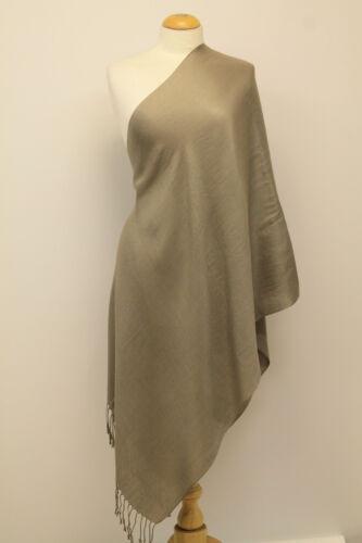 Femmes Jolie pour Uni Pashmina Écharpe Hiver Hijab étole enveloppante Gland