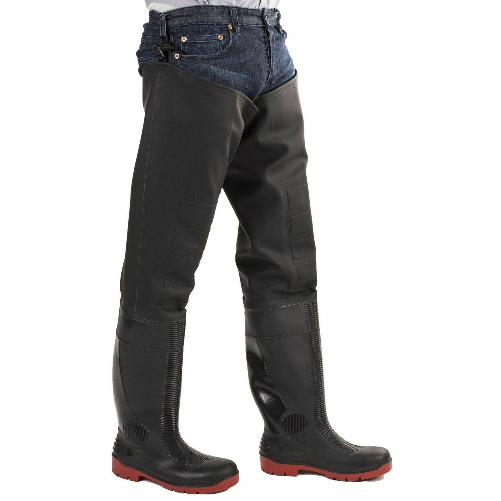 Amblers Safety Waders Rhone Thigh Safety Wader Black Red SRA