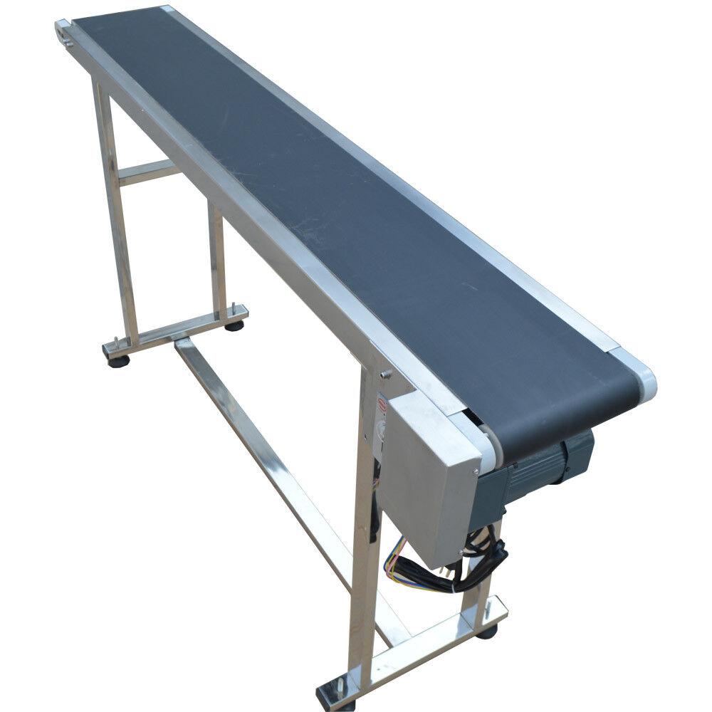 w//Double Guardrails and Adjustable Speed Industrial Transport Conveyor Conveyor Table for Handling VEVOR Belt Conveyor Length 82Inch PVC Conveyor Belt Width 16Inch 110V Motorized Conveyor
