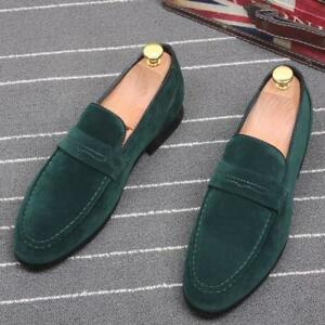 Men/'s British Slip On Flat Comfy Casual Shoes Moccasin Loafers Driving Shoes