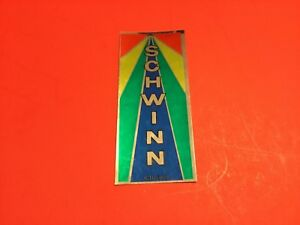 2 NOS Old School Schwinn BMX Headbadge Decal Rainbow Colors Vintage MX