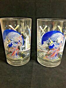 Set of 2 McDonalds/Disney World 25th Anniv Glass-Remember the Magic Mickey