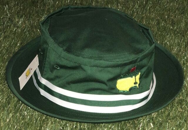 ec13a94cfcd 2018 OFFICIAL MASTERS AUGUSTA NATIONAL TOURNAMENT GOLF BUCKET HAT GREEN  LARGE