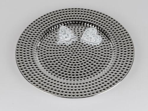 33cm mit Punkten silber Kunststoff Formano Platzteller rund D