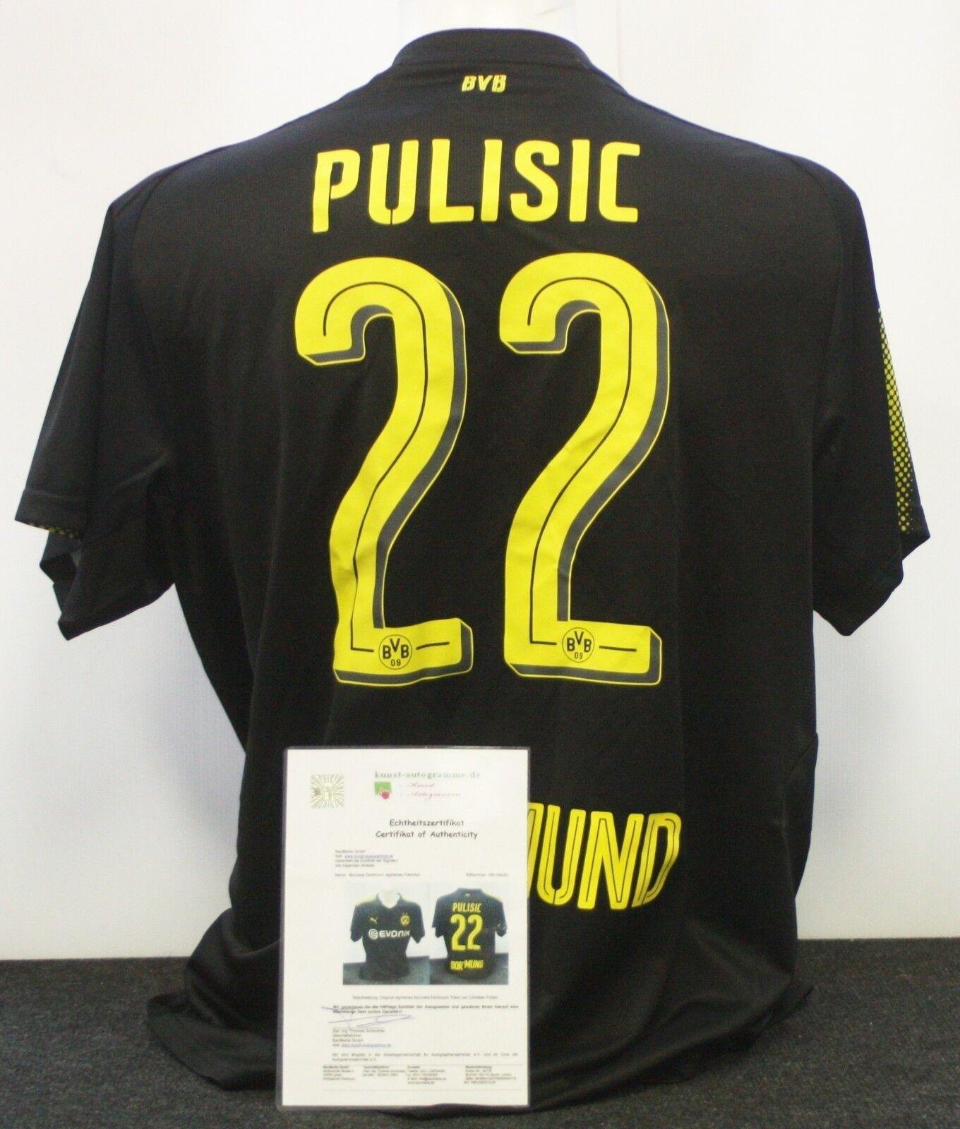 Borussia Dortmund Trikot signiert von Christian Pulisic, gr. XL