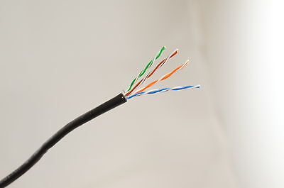 Bello 25 M Nero Esterno Cavo Ethernet Cat5e 100% Rame Più Sul Nostro Negozio - Fabbricazione Abile