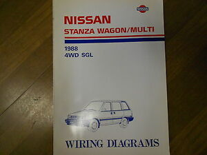 1988 Nissan Stanza Wagon and 4wd Car Dealer Sales Brochure ...