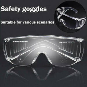 Clear Safety Anti Fog Goggles Glasses for Work Lab Outdoor Eye Protection US