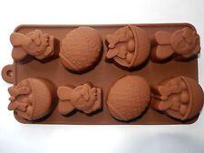 8 Fori Pasquale Uovo Coniglietto Cesto Stampo Per Cioccolatini Modellazione