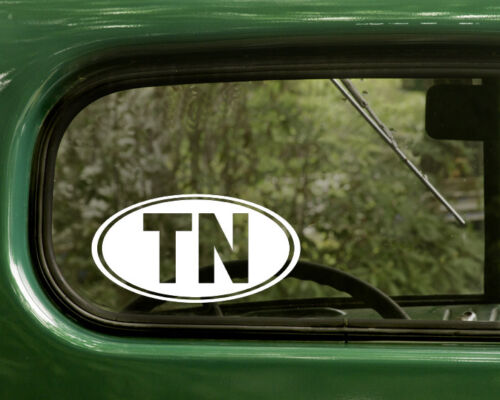 TN TENNESSEE DECAL 2 Oval Stickers For Car Truck Laptop Window Bumper Jeep