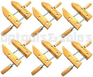 """7/"""" CLAMP WOOD SCREW GLUING CLAMP HAND SCREW WOODEN HAND WOODWORKING TOOL 6"""