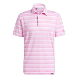 adidas Golf Heather Snap Polo Shirt (Screaming Pink - XL)